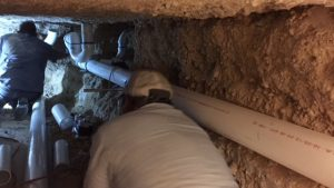 Under slab plumbing - DFW Foundation