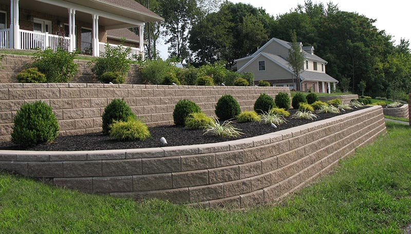A Beautiful Retaining Wall repair By DFW Foundation Repair Experts